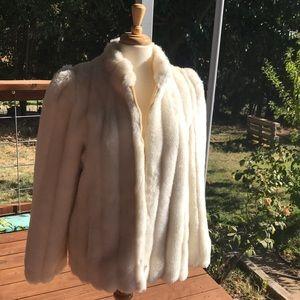 Vintage Jordache faux fur white jacket